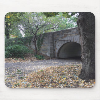 Fall in Riverside Park Stone Archway New York NYC Mouse Pad