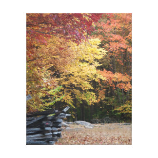 Fall in the Smoky Mountains Gallery Wrapped Canvas
