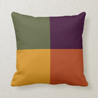 Fall Into Squares Decorative Cushion