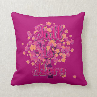 """Fall is Here Throw Pillow (16"""" x 16"""")"""