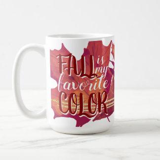 """Fall is My Favourite Colour"" Coffee Mug"