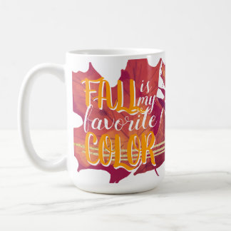 """""""Fall is My Favourite Colour"""" Mug Yellow"""