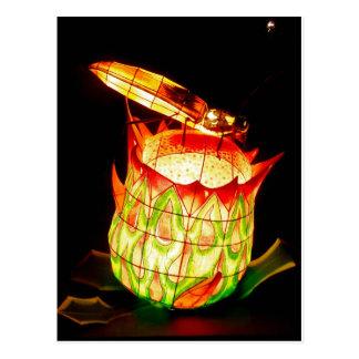 Fall Lantern Festival Firefly Postcard