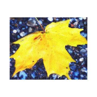 fall leaf. stretched canvas print