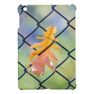 Fall Leaf Caught on a Fence Cover For The iPad Mini
