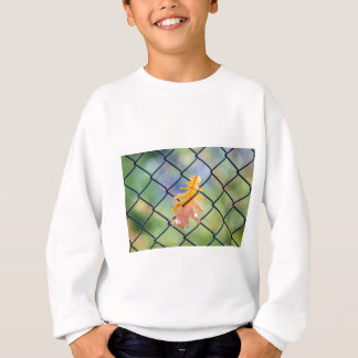 Fall Leaf Caught on a Fence Sweatshirt