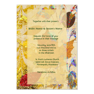 Fall Leaf Collage Wedding Invitation