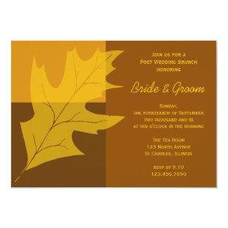 Fall Leaf Color Block Post Wedding Brunch Invite