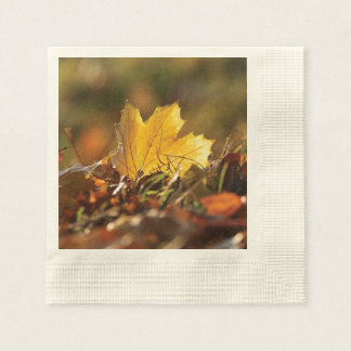 Fall Leaf Disposable Serviettes