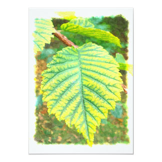 Fall Leaf - Elm 13 Cm X 18 Cm Invitation Card