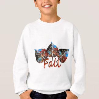 Fall Leaf Image Sweatshirt