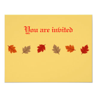 Fall Leaf Invatations Personalized Announcements