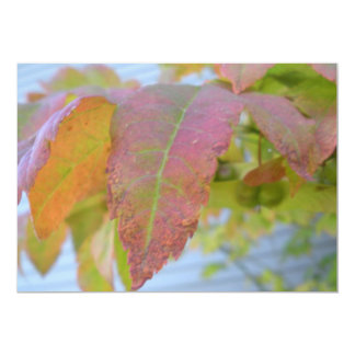 Fall Leaf Invitation Card