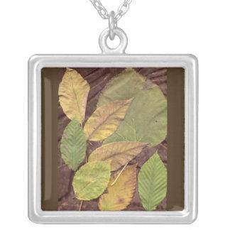 Fall Leaf Jewelry Art Pendant