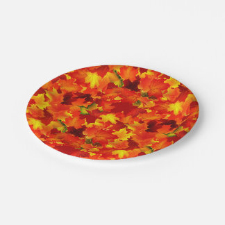Fall leaf pattern Party paper plate 7 Inch Paper Plate