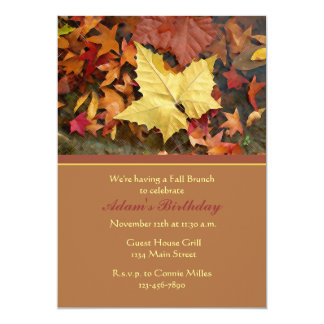 Fall Leaf Splendor Invitations