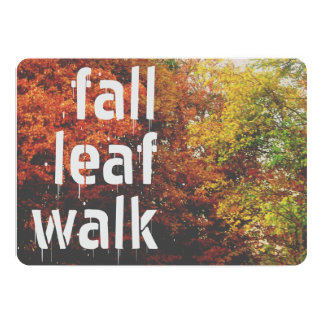 Fall Leaf Walk Card