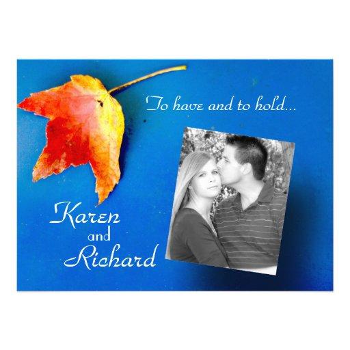 fall leaf wedding invitations