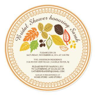 Fall Leave Autumn Bridal Shower Invitations