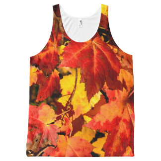 Fall Leaves All-Over Print Singlet