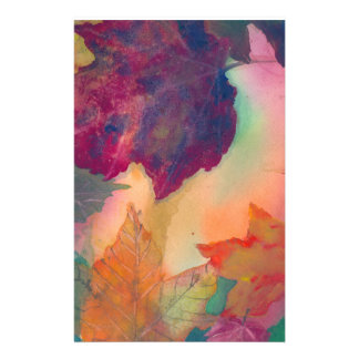 Fall Leaves along the coast in NE Stationary Stationery