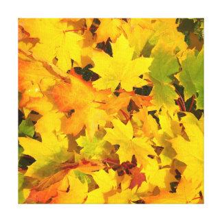 Fall Leaves Autumn Colors Leaf Design Canvas Prints