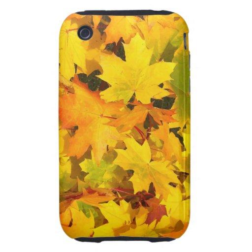 Fall Leaves Autumn Colors Leaf Design Tough iPhone 3 Cover