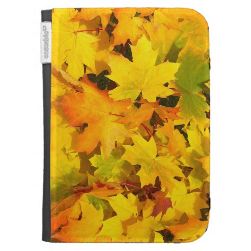 Fall Leaves Autumn Colors Leaf Design Kindle Case