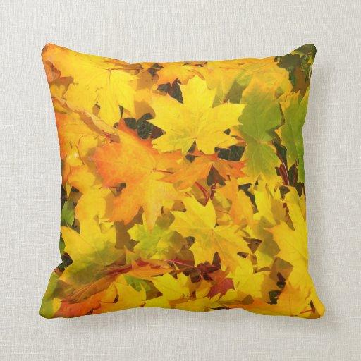 Fall Leaves Autumn Colors Leaf Design Pillows