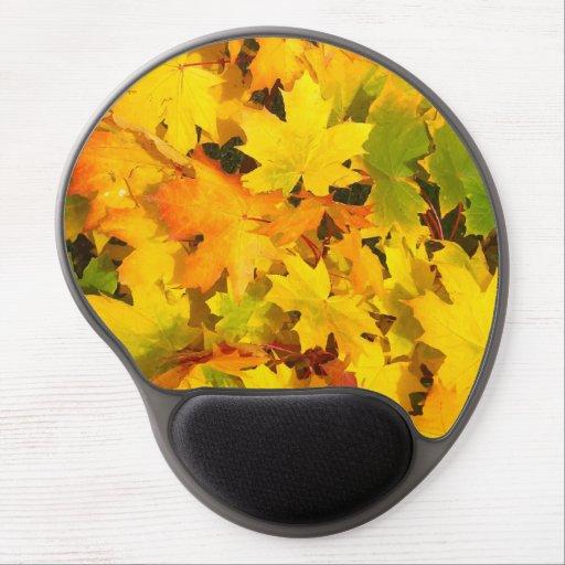 Fall Leaves Autumn Colors Leaf Design Gel Mousepads