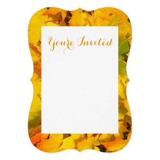 Fall Leaves Autumn Colors Leaf Design Card