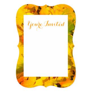 Fall Leaves Autumn Colors Leaf Design 5x7 Paper Invitation Card