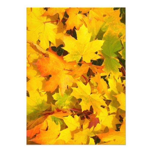Fall Leaves Autumn Colors Leaf Design Personalized Invite