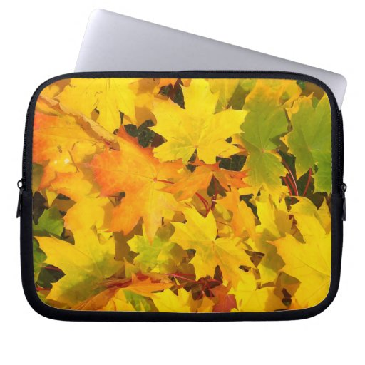 Fall Leaves Autumn Colors Leaf Design Laptop Sleeves