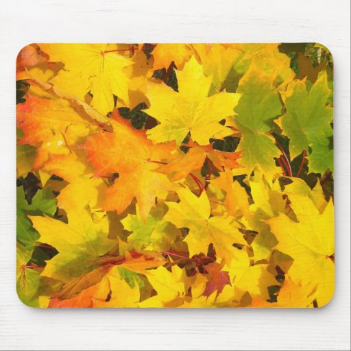Fall Leaves Autumn Colors Leaf Design Mousepads