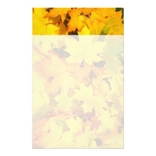 Fall Leaves Autumn Colors Leaf Design Stationery Paper