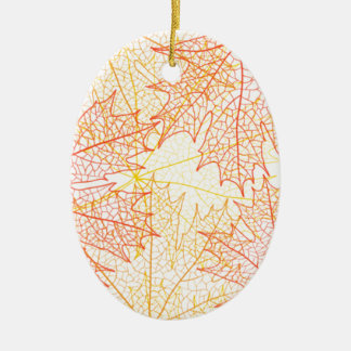 Fall Leaves Autumn Drawing Ceramic Oval Decoration