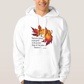 Fall Leaves Autumn Hooded Sweatshirt