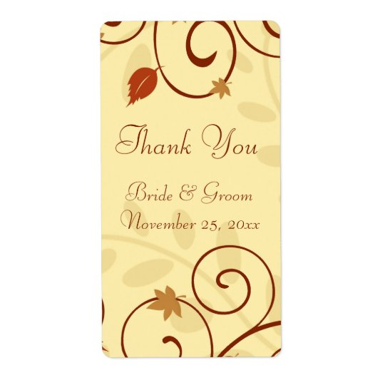Fall Leaves Autumn Wedding Labels
