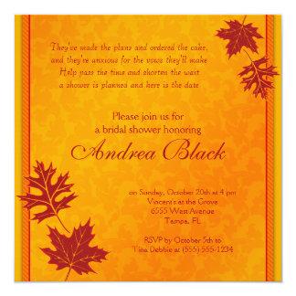 Fall Leaves Bridal Shower Invitation