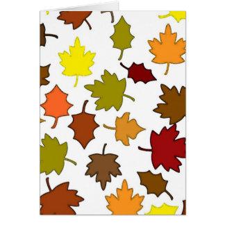 Fall Leaves Card