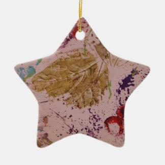 Fall Leaves Ceramic Star Decoration