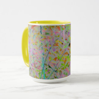 FALL LEAVES/DIGITAL EFFECTS/ABSTRACT/COLORFUL MUG