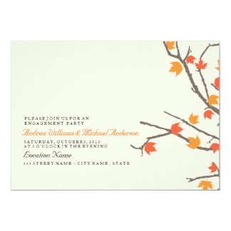 Fall Leaves Engagement Party Invite