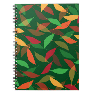 Fall Leaves for Autumn Spiral Note Book