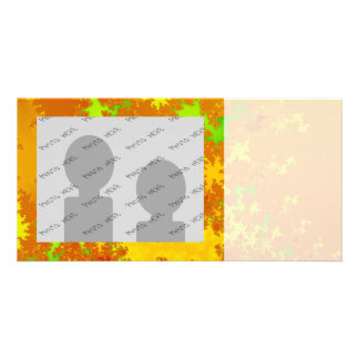Fall Leaves Fractal. Decorative Abstract Art. Personalized Photo Card