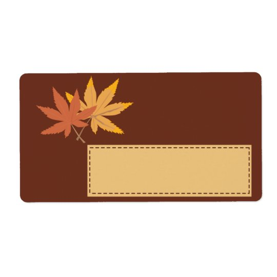 Fall Leaves Gift Tag Shipping Label