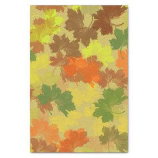Fall Leaves - Golden Background Tissue Paper