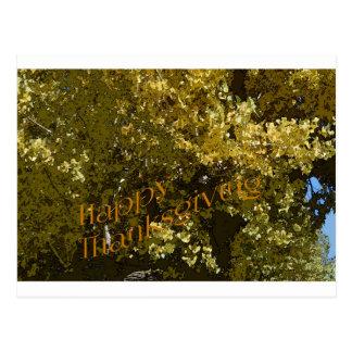 Fall Leaves Happy Thanksgiving Postcard