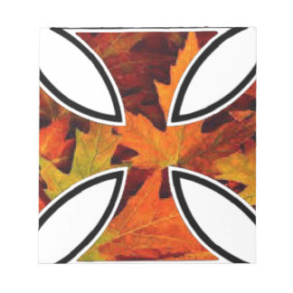 Fall leaves in Iron Cross celebrate Thanksgiving Notepad
